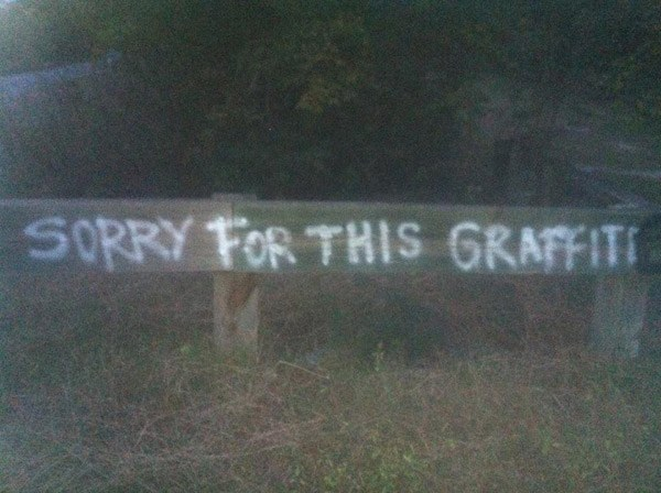 Graffiti Apology