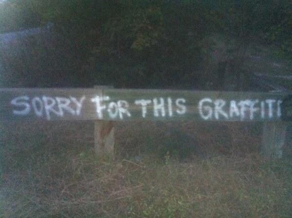 Graffiti Apology