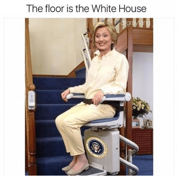 Hillary Clinton Floor Is Lava