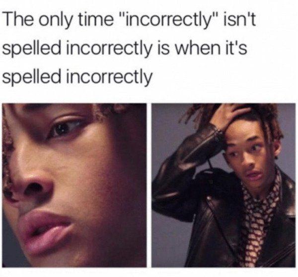 Incorrectly