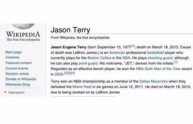 Jason Terry Wikipedia Entry