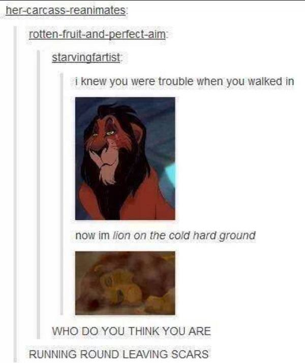 Lion On The Cold Hard Ground