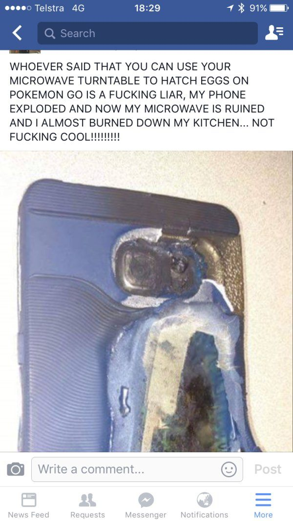 Microwave Your Phone For Pokemon