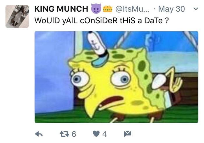Spongebob Meme Date