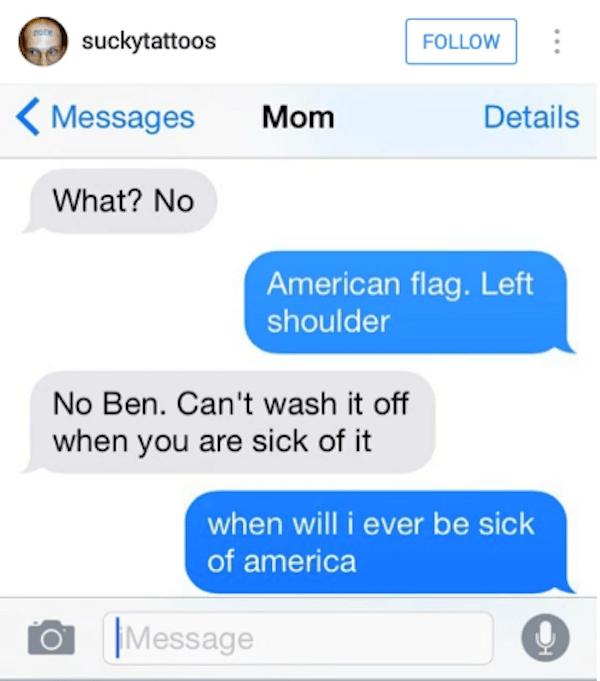 Sick American Flag Tattoo
