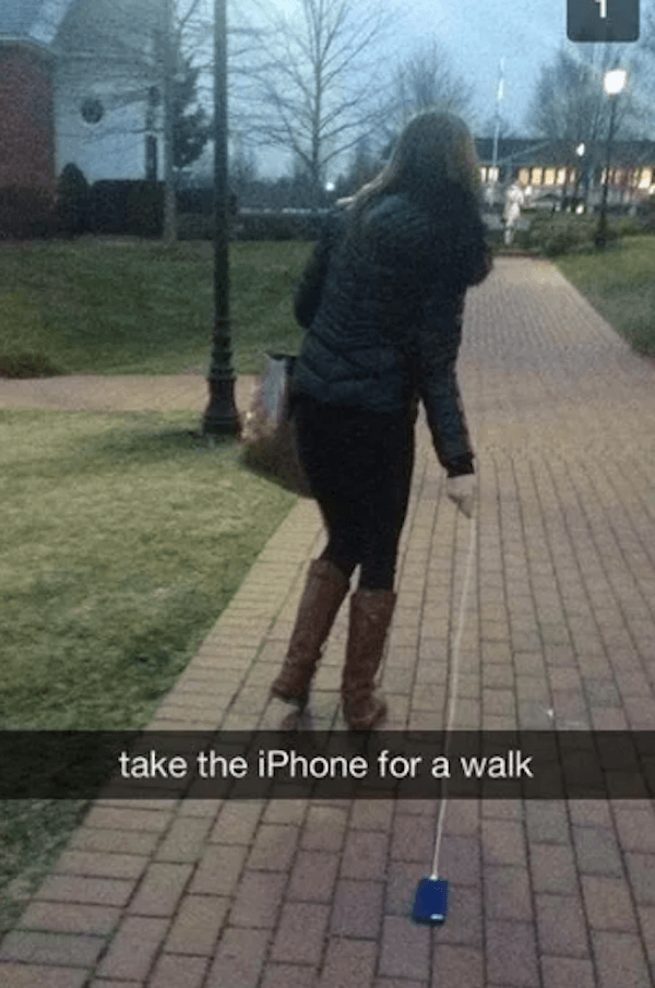 Walking The Iphone