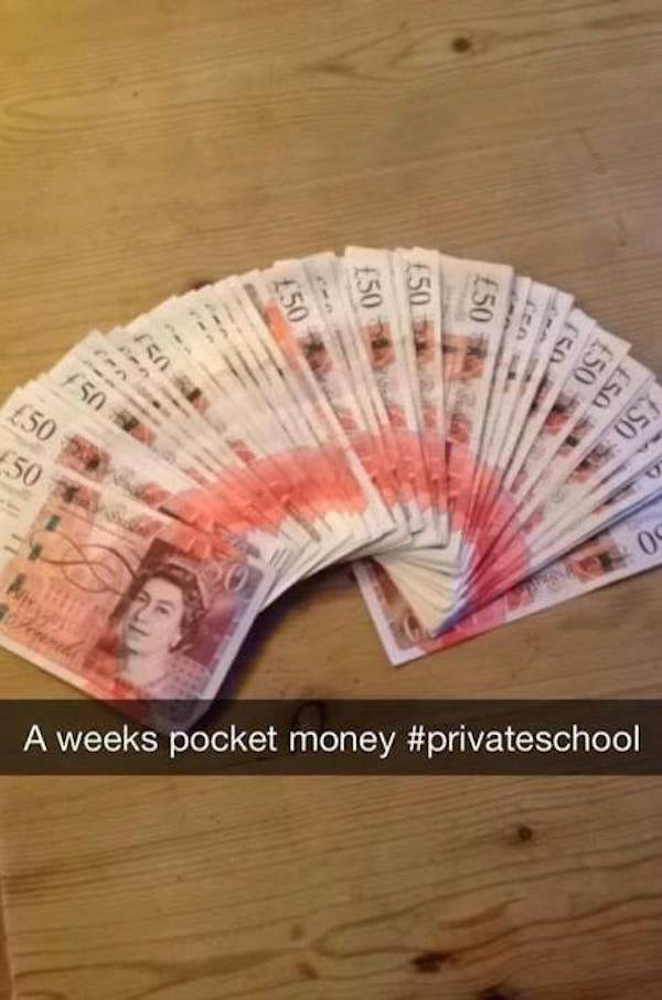 Weeks Pocket Money