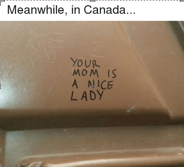 Funny Canadian Graffiti