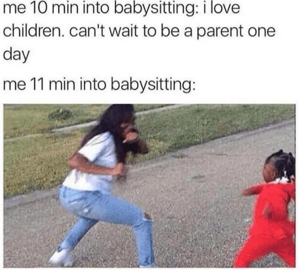 Babysitting Meme