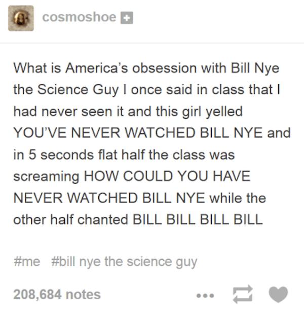 Bill Nye Obsession