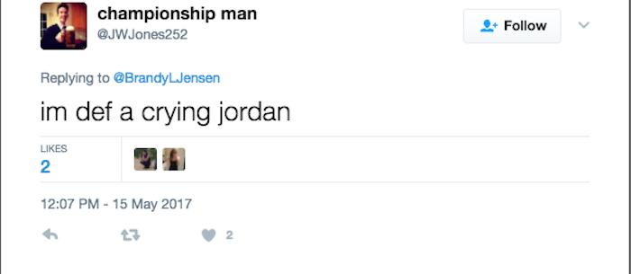 Crying Jordan Dating