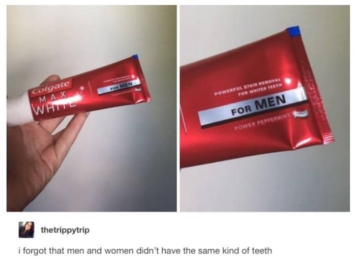Different Teeth