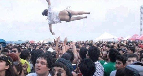 Epic Crowd Surf