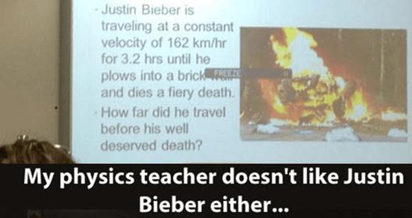 Justin Bieber Physics