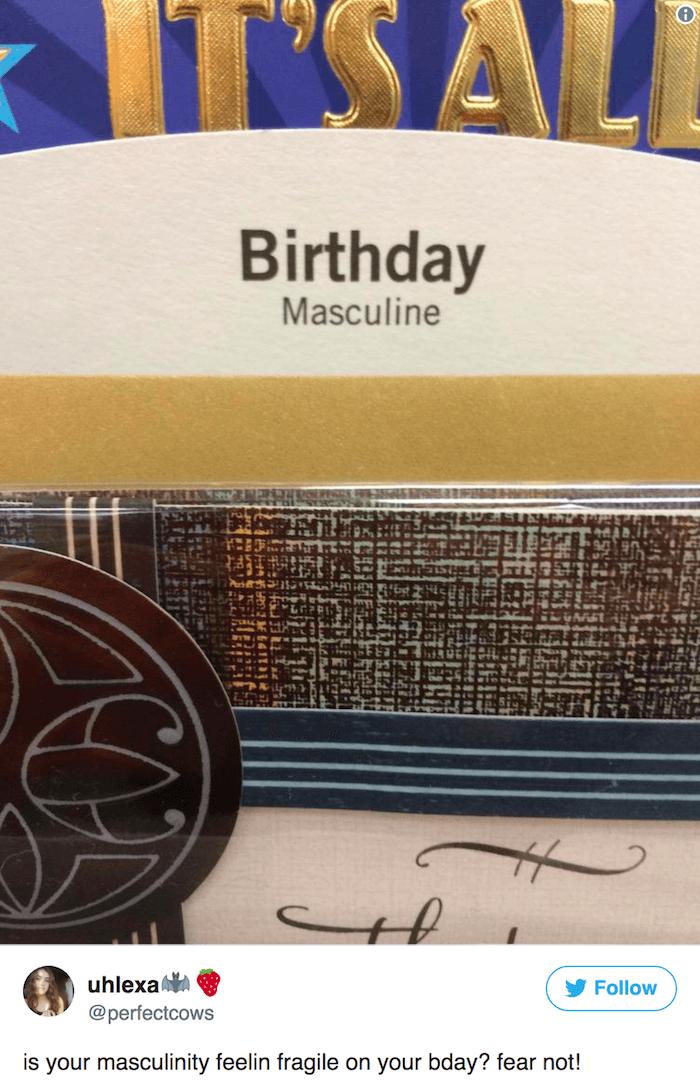 Masculine Bday