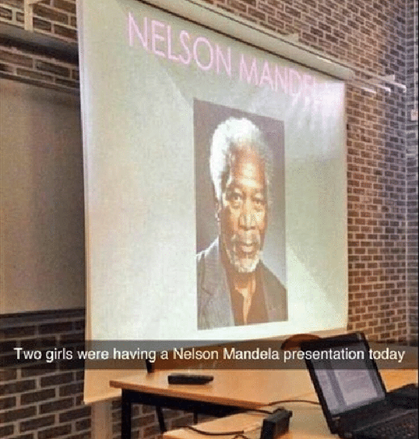 Morgan Freeman Funny Class Presentations