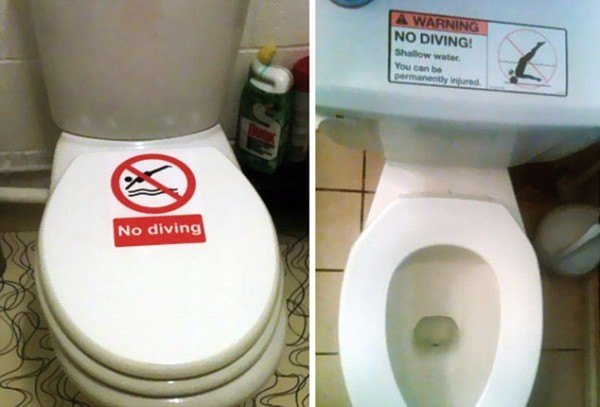 No Diving Toilet