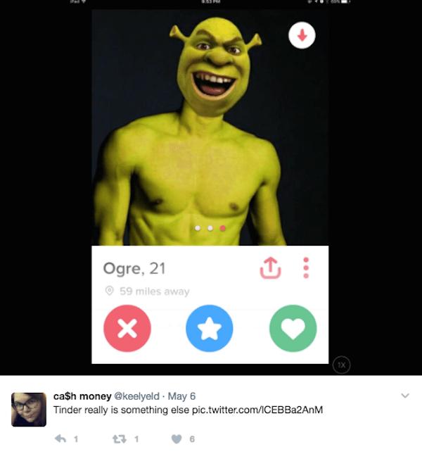 Shrek Profile Five Word Tweet