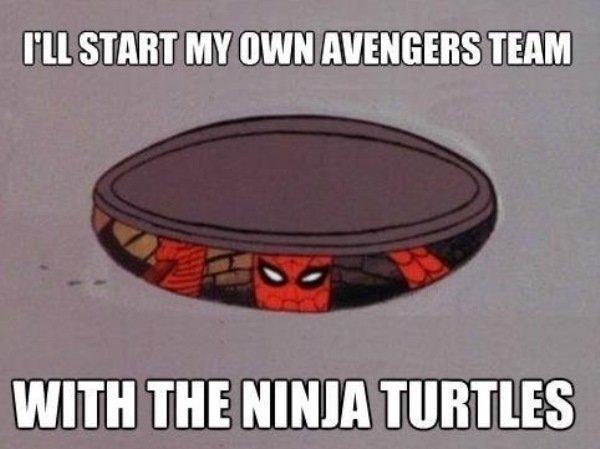 Spiderman Memes Own Avengers Team