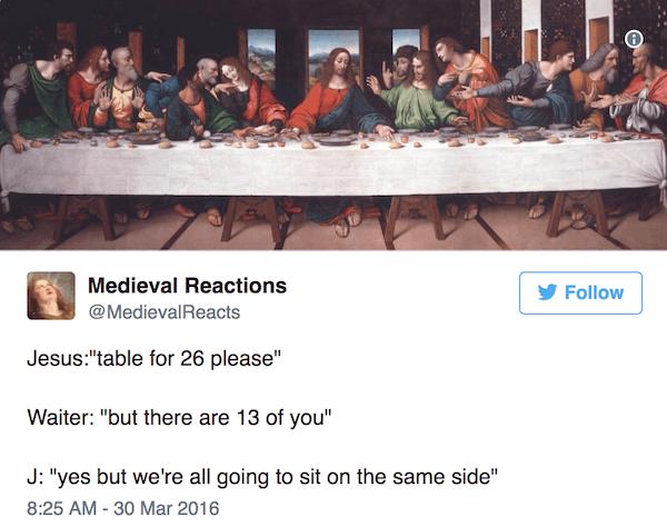 Last Supper Funny Tweet