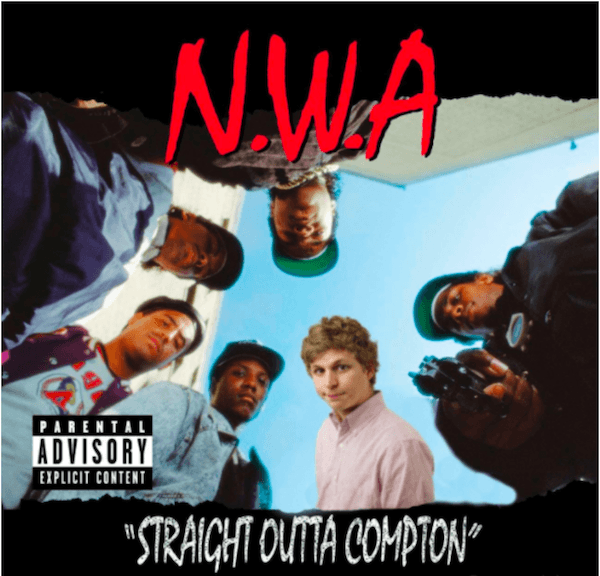 NWA Michael Cera Album Covers