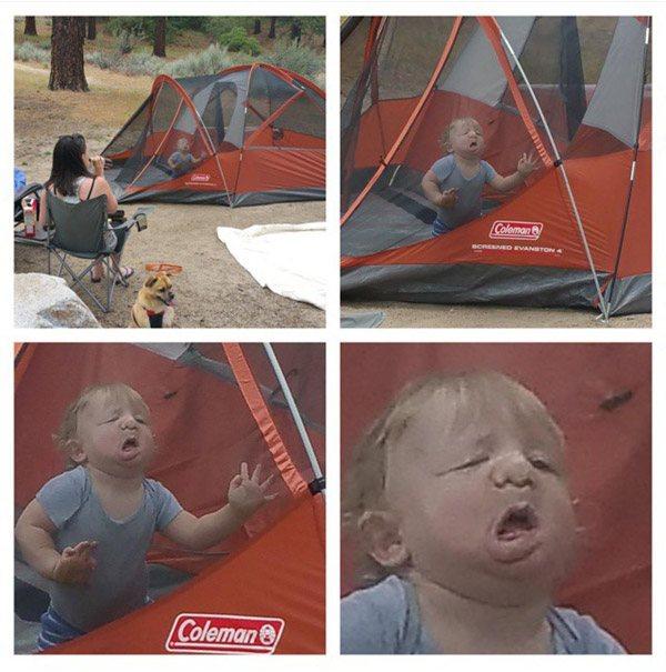 Camping Toddler