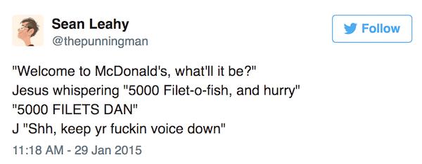 Jesus Orders Filet O Fish