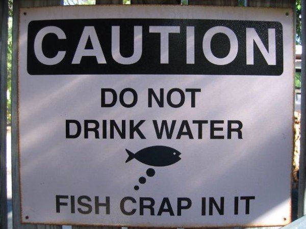Fish Crap Funny Zoo Signs