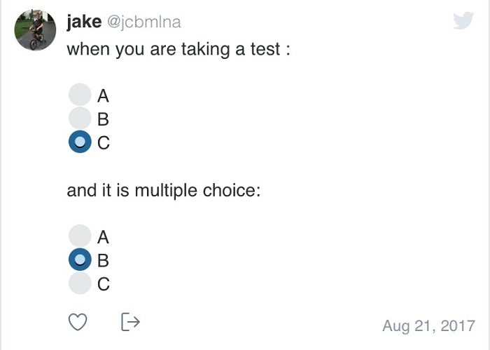Funny Multiple Choice Test