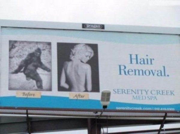 Hilarious Crazy Billboards Hair Removal