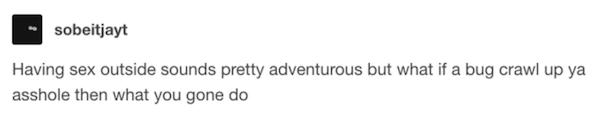 Funny Tumblr Sex Posts Bug