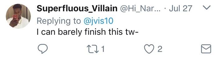 Can't Finish Tweet