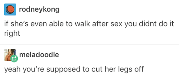 Cut Off Legs