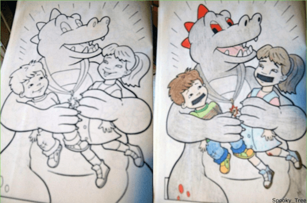 Dragon Tales Depraved Dirty Coloring Book Pictures Family