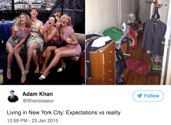 Real New York Tweets Expectations