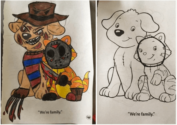 Depraved Dirty Coloring Book Pictures Family