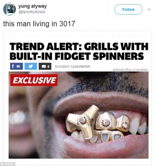 Fidget Spinner Grill