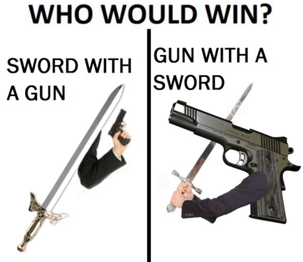 Gun Sword Sword Gun