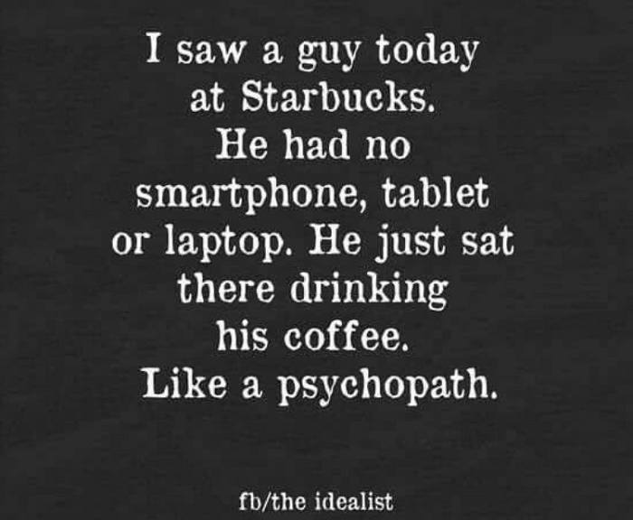I Bet The Coffee Was Black Too