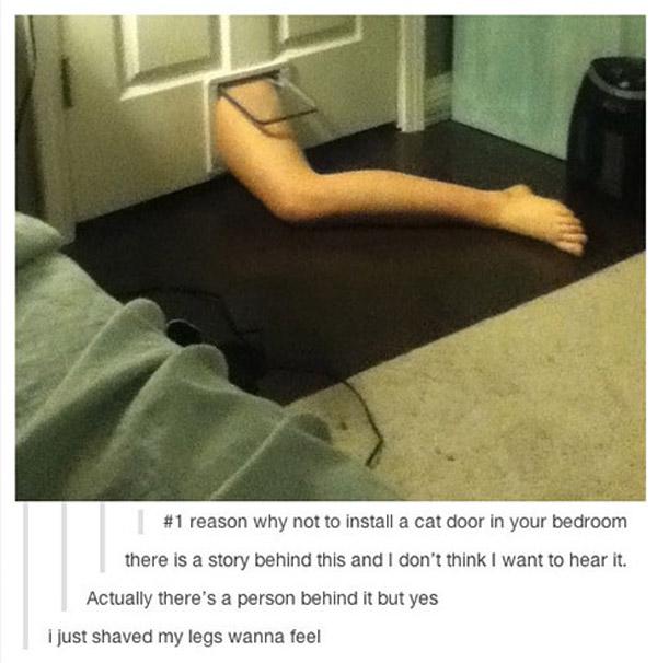 Leg In Door