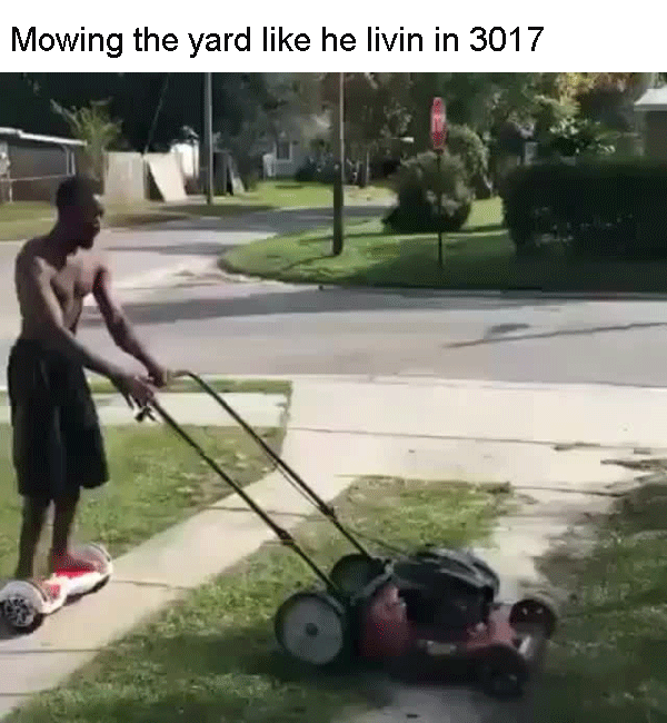 Mowing in 3017