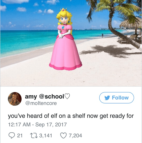 Peach On A Beach
