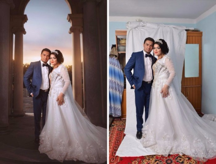 Photoshop wedding Reality