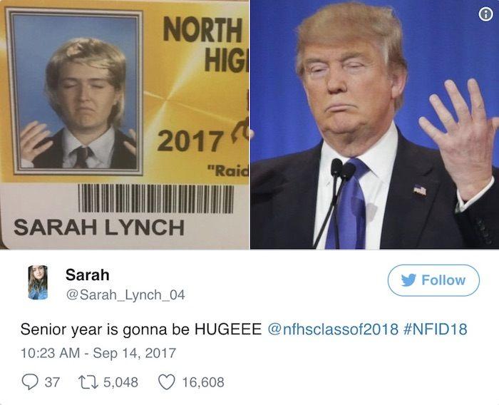 Senior Pics Trump