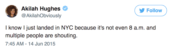 New York Tweets Shouting