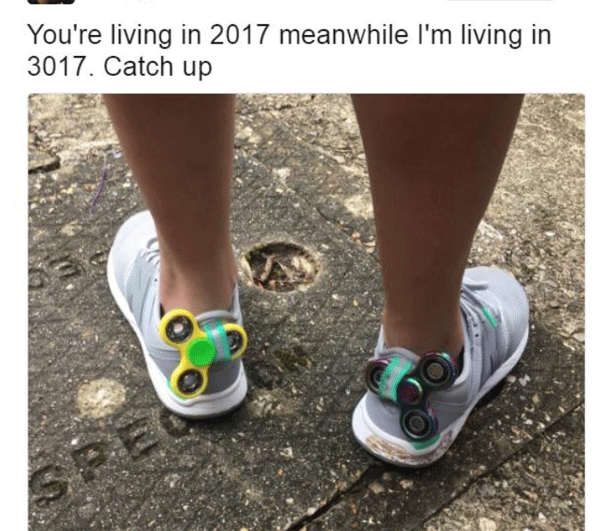 Living in 3017 Spinner Shoes