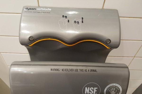 Urinal Hand Dryer