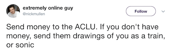 ACLU Extremely Online Guy Tweets
