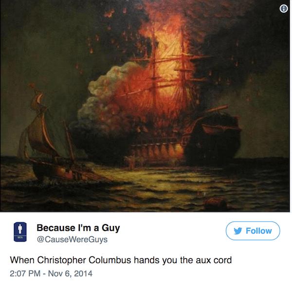 Columbus Day Tweets Aux