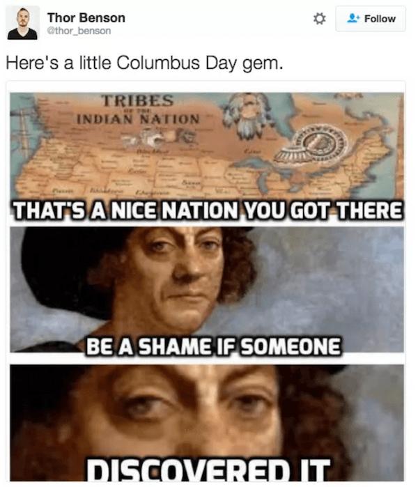 Coumbus Day Tweets Gem